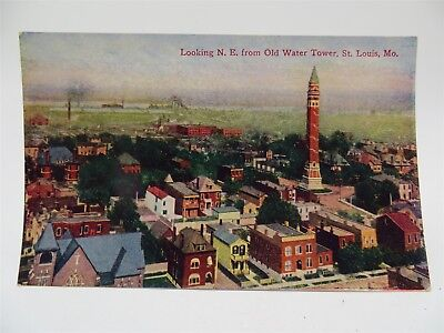 Vintage Early 1900's Postcard - View NE From Old Water Tower, St. Louis, MO