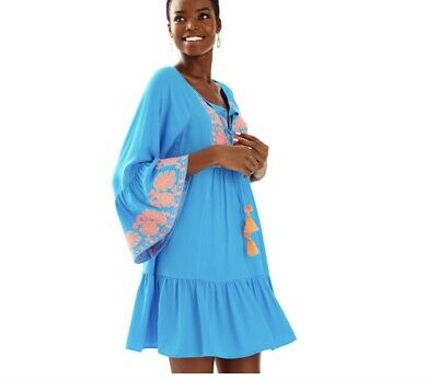 5abd5909acc NEW LILLY PULITZER AMISA TUNIC DRESS Resort White Gold Embroidery XS ...