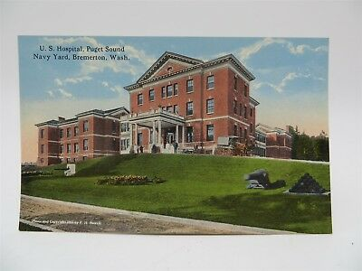 Vintage Early 1900's Postcard - US Hospital Puget Sound Navy Yard, Bremerton, WA