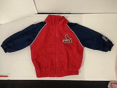 Baby Sz 6 9 Months Red cardinals Windbreaker Suit Jacket st Louis MLB toddler