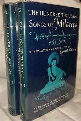 1962 The Hundred Thousand Songs Of Milarepa Buddhist Mystic Enlightenment Occult