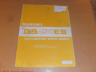 suzuki gs450 e s genuine supplementary sevice manual with wiring diagram
