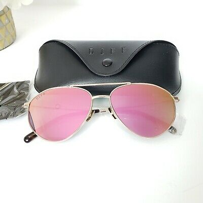 e2160d760a5f6 Diff Scout Womens Sunglasses Gold Frame Pink Polarized Lens UV Protection