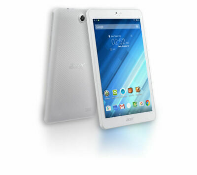 """ACER Iconia One Tablet-Quad-core 1.3 GHz 16 GB 8"""" Android 5.1 White-GradeB"""