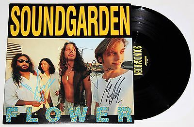 Soundgarden Band Signed Flower Lp Vinyl Record Chris Cornell Autographed Jsa Coa