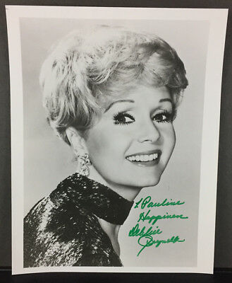 DEBBIE REYNOLDS AUTOGRAPH 8x10 BW Signed Photo ACTRESS Singin in the Rain