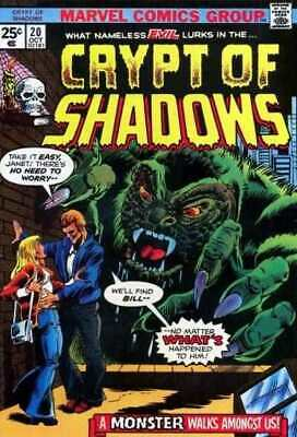 Crypt of Shadows (1973 series) #20 in Very Good + condition. Marvel comics [*d1]