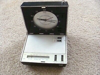 Vintage RCA Victor Travel Clock / Radio  60's Japan Solid State AS IS #RZS43E