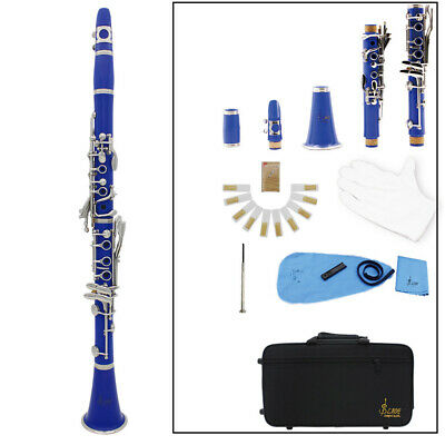 Brand New Professional School Band Blue Bb Clarinet D9K9