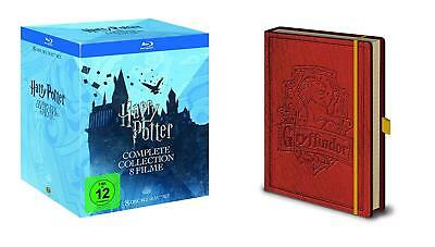 Harry Potter 1 2 3 4 5 6 7 8 Complete Collection + Taccuino Blu-Ray Regalo Box