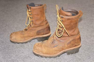 66804a5408aa7 VTG NEW RED Wing Shoes Mens 8.5 D 6604 Moc Steel Toe Leather Work ...