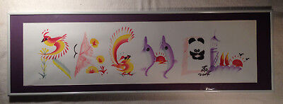 """Original Watercolor Name Painting """"RACHEL"""" Signed Dated Framed & Matted"""