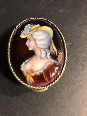 Antique French Agate Stone And Enamel Work Snuff Box/ Signed/France C. 1900