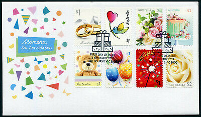 2019 Moments to Treasure S/A *Unissued* FDC Stamps Australia