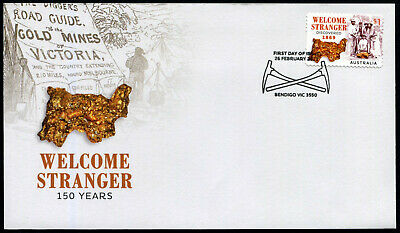 2019 Welcome Stranger Gold Nugget S/A *Unissued* FDC Stamps Australia