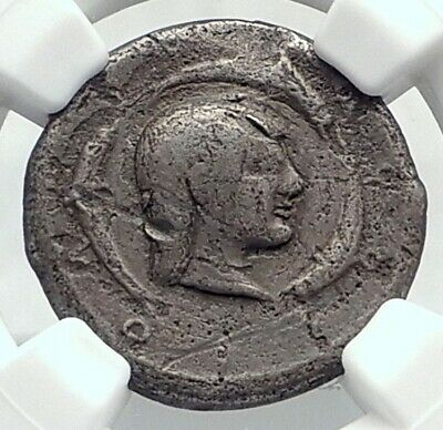 SYRACUSE in SICILY Ancient 480BC Silver Greek RARE R2 Didrachm Coin NGC i77394