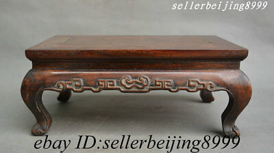 China Dynasty Palace Huang Huali Wood Pattern Furniture Table Desk Teapoy Statue