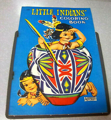 Little Indians coloring book, a big little coloring book NEW & UNUSED 1950s RARE