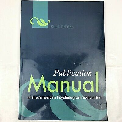Publication Manual of the American Psychological Association by American Psychol
