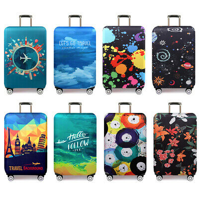 """Elastic Polyester Anti Scratch Luggage Suitcase Protector Cover Dustproof 18-32"""""""