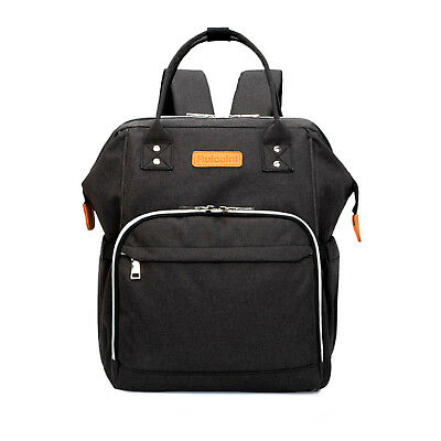 Black Color Multifunctional Baby Diaper Backpack Changing Bag