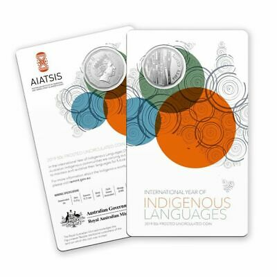 2019 50c Cent  INTERNATIONAL YEAR of INDIGENOUS LANGUAGES - FROSTED UNCIRCULATED