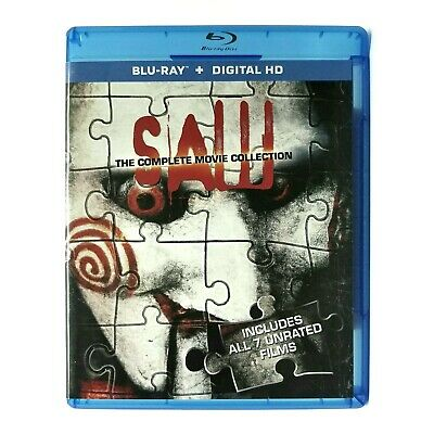 Saw: Complete Movie Collection (2004-2010) Like New Blu-ray ALL 7 UNRATED FILMS