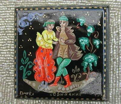 Russian Fairytail Lacquer Hand-Painted Small Trinket Box Signed