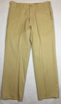 Tommy Bahama Relax Men's Pants Silk Cotton Comfort Waistband Gold Size 34 A873