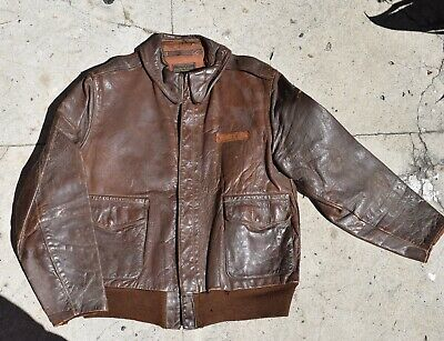 Vintage Type A-2 Leather Jacket. Named & Documented. XIII Fighter Command. WOW!!