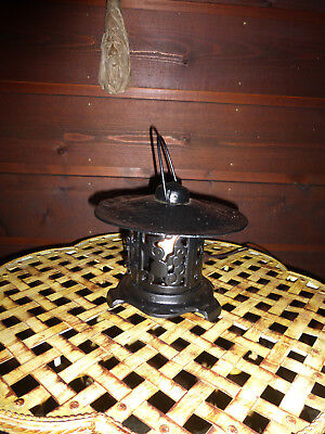 Antique Cast Iron Pagoda ELECTRIC Lantern Table Lamp Porch Light