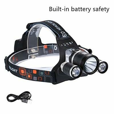 12000LM 3 x XML CREE T6 LED Rechargeable Head Torch Headlamp Light Lamp AU