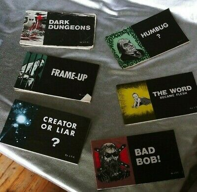 CHICK TRACT LOT. 1970's - 80's JACK CHICK GOSPEL CARTOON BOOKLETS. MADE IN U.S.A
