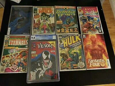 Mixed LOT OF (100) Marvel DC Titles~1960s-Modern with one slab and 1 annual