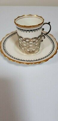 Aynsley Coffee can with Silver holder 1919