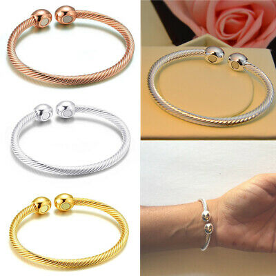 Solid Copper Alloy Magnetic Wire Bracelet/bangle Arthritis Therapy For Men Women
