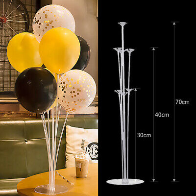 5x Balloon Accessory  Plastic Base Table Aupport Holder Stick Stand Party Decor