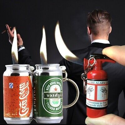 New Creative Fire Extinguisher Inflatable butane Cigarette Cigar Mini lighter
