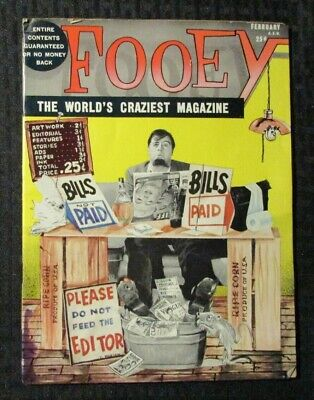 1961 Feb FOOEY Magazine v.1 #1 GD+ 2.5 Crazy Mad Humor Parody