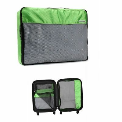 Pouch Luggage Packing Set Storage Travel Organizer Suitcase Backpack 3pcs Green