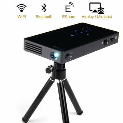Portable Video Projector,Android7.1Smart Movie Projector,100ANSI DLP Home Cinema