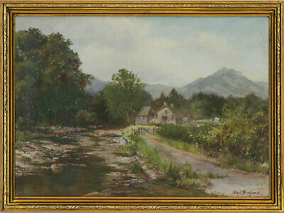 Alfred Harford RWA (1848-1915) - Early 20th Century Oil, A Welsh River Landscape