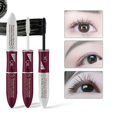 Double-end 4D Silk Fiber Eyelash Mascara Extension Makeup Waterproof Eye Lashes