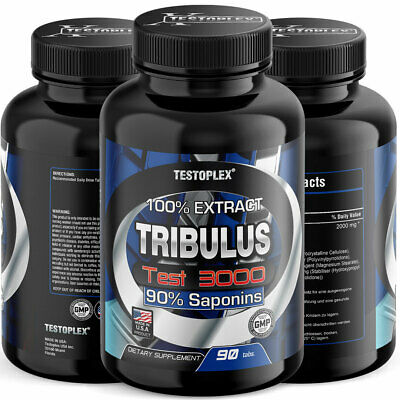 Tribulus Test 3000, 1000mg, 90 Tabletten | Muskelaufbau | Testosteron | Anabol