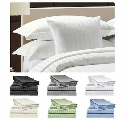 1000TC 100% Cotton Sheet Set (3PC FITTED SHEET SET) or (4PC SHEET SET) Bed New