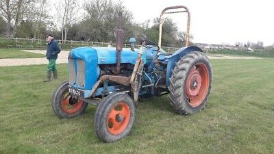fordson power major tractor with bucket