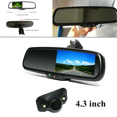 "4.3"" 2W NTSC Auto Dimming TFT LCD Rear View Monitor w/ Rear Camera Night Vision"