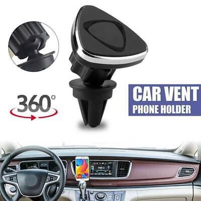 New Rotating Magnetic Mount Car Air Vent Mobile Phone Holder Stand GPS Sat UK