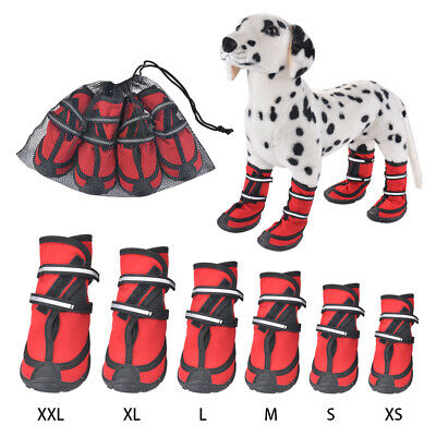 4x Waterproof Non-slip Dog Cat Shoes Boots Perfect for Injury Prevention XS-XXL