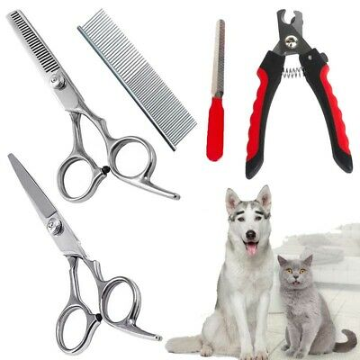 5Pcs Pet Grooming Tools Kit Clippers Scissors Set for Dog Cat Hair Nail Trimmer